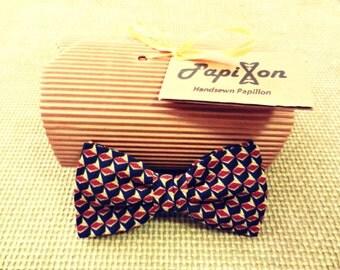 Diamond Silk bow tie yellow-red-blue-black
