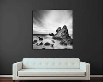 Rocks & Seascape, Fine Art Print, Gallery Wrap Canvas