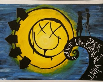 "Blink-182 ""I Miss You"" acrylic paint prints 10""x14"""