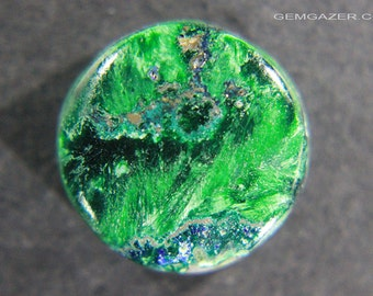 Chatoyant Malachite cabochon, Arizona USA.  15.08 carats.