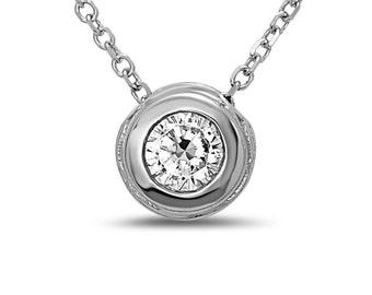 Terra Diamond Bezel Necklace