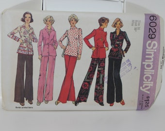 Vintage Misses  Simplicity Sewing Pattern For Wide Leg Pant, Blouse Size 16