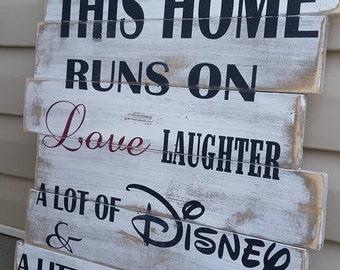 Disney and pixie dust custom wood sign