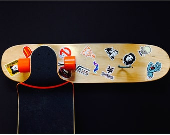 Skateboard Decorations clock diy skateboard with skateboard stickers. this skateboard