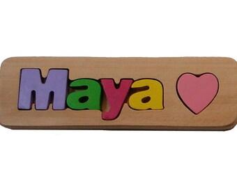 WOODEN PUZZLE NAME - Maya