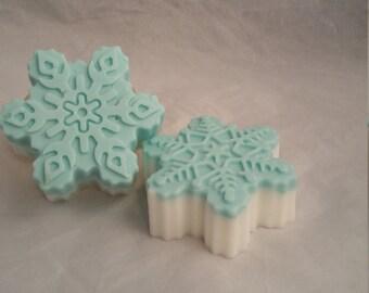 snowflake soap, Christmas soap