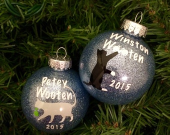 Fully Customizable Personalized Cat Ornament