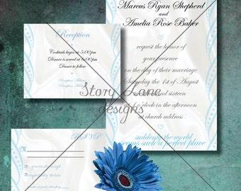 "Wedding Invitation/RSVP/Reception Card ""Satin"""