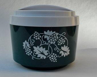 Lovely Retro Ice Bucket in Dark Green, Plastic Ice Bucket, Retro Barware