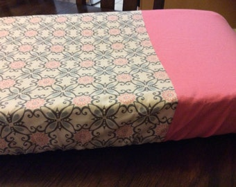 SALE - Changing pad cover, pink pad cover, baby shower SALE