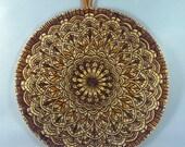 Mandala, Pyrography Art, Sacred Geometry, Buddhist Decor, Meditation, Zen, Indian Mandala, Mandala Art