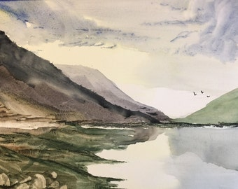 Spring Coast - Watercolor Landscape Painting