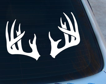 Deer Antler Decal - Antlers Sticker - Hunting Decal - Deer Decal - Laptop - Macbook - Car Decal