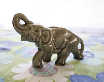 Vintage McCoy Elephant Planter