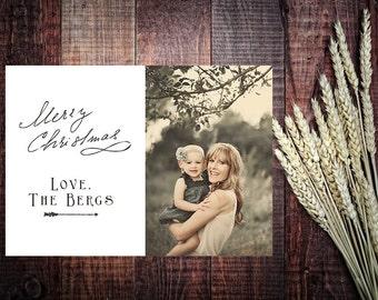 Boho-Arrow Christmas Photo Card [Printable Digital Design]