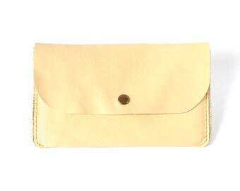 Pocket light yellow leather