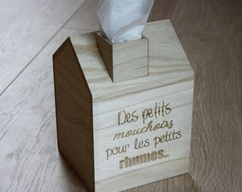Boîte à mouchoirs petite maison en bois idée cadeau originale à personnaliser cadeau grand-mère idée fête des mères cadeau pour maison