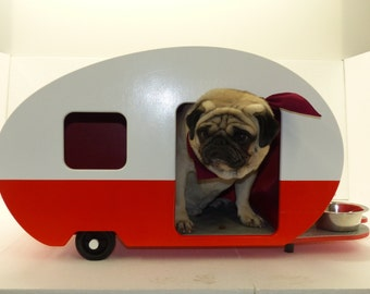 Kennel for dogs, cats and puppies shaped trailer