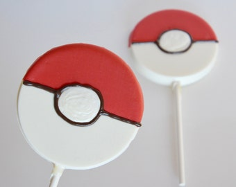 Pokemon Lollipops (12), Pokemon Party, Pokemon Go Birthday, Pikachu Party, Pokemon Candy,  Pokemon Birthday Ideas, Pokeball