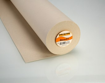 Vilene Iron-On Decovil l Interlining - Beige. Non Woven Interfacing -  Leather Like Feel 90cm x 0.5 metre (SEW000096)