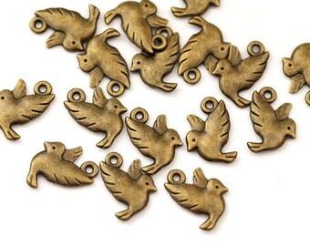 10 followers birds / bronze