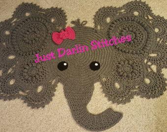 Crochet Elephant Rug, Josefina & Jeffery Elephant Rug