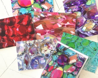 Set of 6 Notecards w/Envelopes- Bling Art: Up Close and Personal/SHINE
