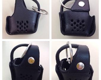 Pure Leather Miniature Dog Muzzle Key Ring - Hand Made
