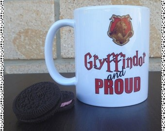 Gryffindor and Proud Coffee Mug (harry potter inspired)