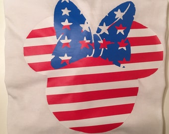 Minnie Mouse 4th of July Tee