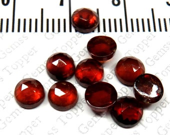 5mm rose cut red garnet cabochon Top AAA Quality natural red garnet faceted cabochon - genuine red garnet natural rose cut gems - FOR ONE
