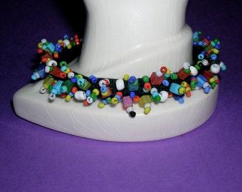 Circus- Beaded soft bracelet