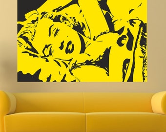 Marilyn forever wall decal, Pop art wall decal, Marilyn Monroe wall decal, Marilyn Monroe decor, Marilyn Monroe Art, Pop Art Marilyn 103