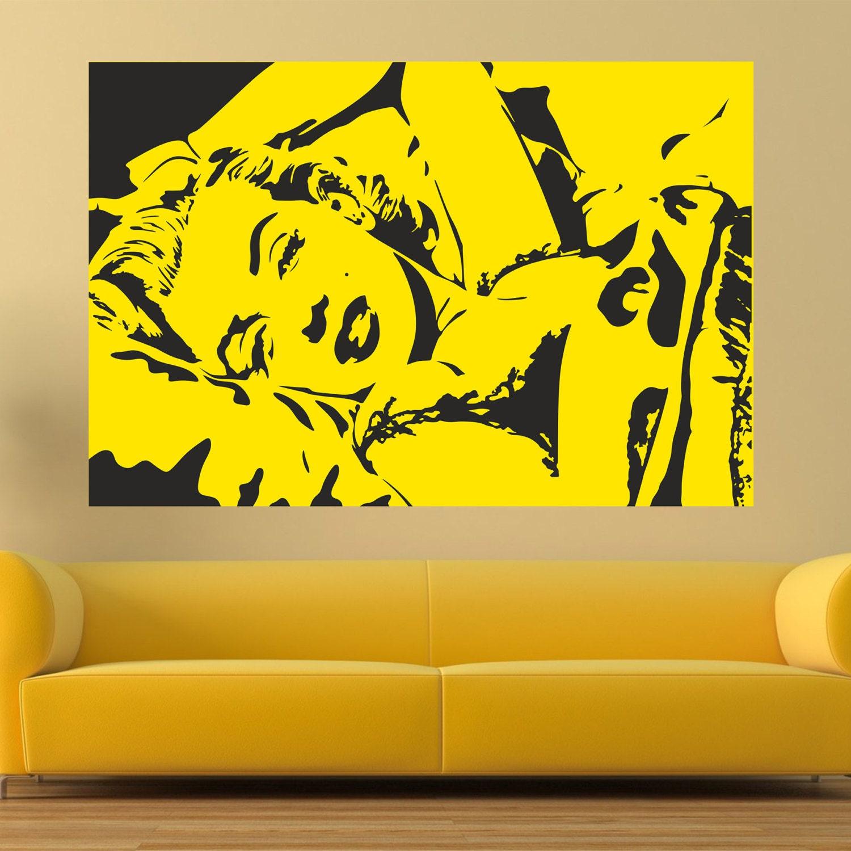 Marilyn Monroe Stuff For Bedroom Marilyn Monroe Decal Etsy