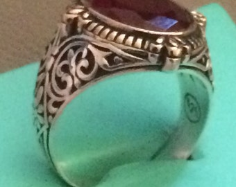 Hand made 925 sterling silver man ring