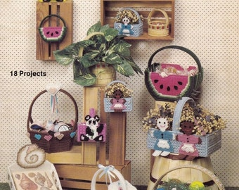Bunches of Baskets, Kappie Originals, Ltd. Plastic Canvas Pattern Book 122 Baskets for Holidays & Everyday Decor