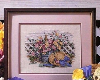 Midsummer Roses Book 49, Leisure Arts Home Wall Decor Cross Stitch Pattern Booklet 2246