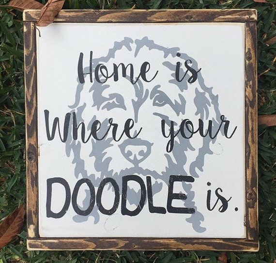 Custom Pet sign animal decor Home is where your by