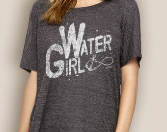 Women's Boating Tee- WaterGIRL Infinity Slouchy T-Shirt- Slouchy Boating T-Shirts- Anchor T-Shirts- WaterGIRL- The Water Soul