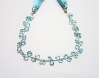 Natural Blue Zircon Faceted Hearts (AAA quality )