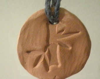 Essential Oil Pendant (Bamboo - rainbow cord)