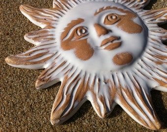 Small sun | ceramic decor | Sardinia ceramics | wall decor | wall hanging