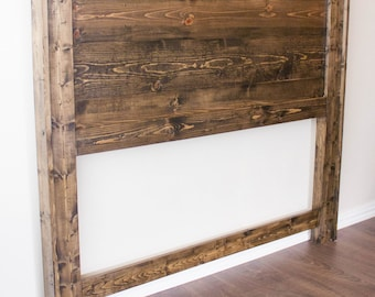 Headboard - Solid Wood - Stained