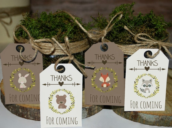 woodland favor tags woodland favors woodland baby shower tags