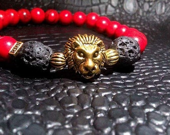 Men's Lion Head Bracelet