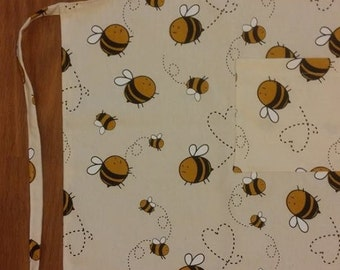 Apron with bees - perfect present!