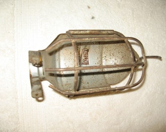 Steampunk Royal Lamp Parts Part Light Cage Industrial Salvage! #BV