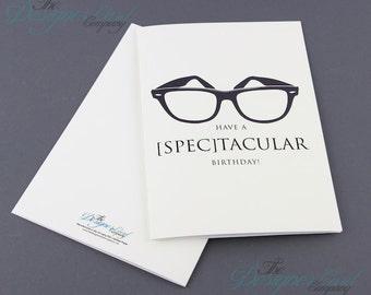 Nerd Birthday Card- [Spec]tacular Wayfarer Glasses
