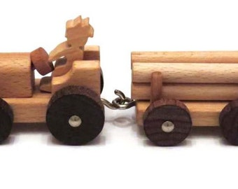 Wooden Farm Tractor, Handcrafted for Children Eco Friendly