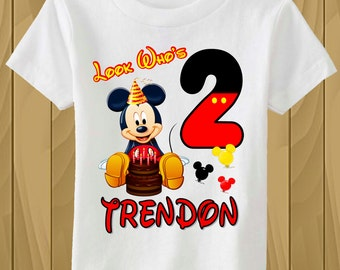 Personalized Mickey Mouse Birthday T-shirt